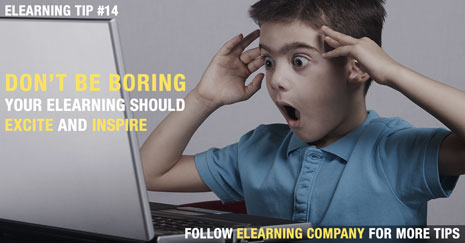 Don't be Boring, Plan Your eLearning Course to Excite and Inspire